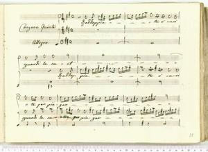 Raddoppiate o cari sguardi (Canzone Quinta / Allegro)