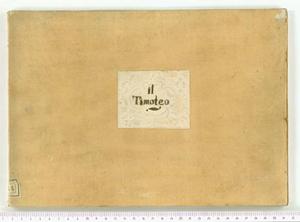 Il Timoteo (Il Timoteo / Musica / Del N. H. Benedetto Marcello)