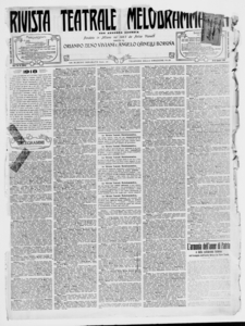 Rivista Teatrale Melodrammatica : giornale critico, musicale e d'annunzi fondato in Milano nel 1863 (1918:2681-2729)