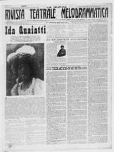 Rivista Teatrale Melodrammatica : giornale critico, musicale e d'annunzi fondato in Milano nel 1863 (1919:1-37)