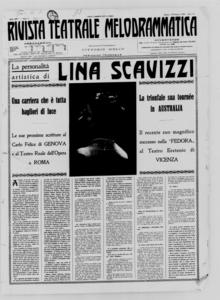 Rivista Teatrale Melodrammatica : giornale critico, musicale e d'annunzi fondato in Milano nel 1863 (1929:1-18)