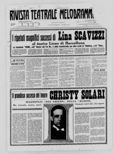 Rivista Teatrale Melodrammatica : giornale critico, musicale e d'annunzi fondato in Milano nel 1863 (1931:1-14)
