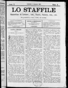 Lo Staffile : gazzettino di lettere, arte, teatri, societa' ecc. (1881:4-26)