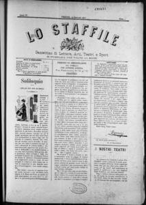 Lo Staffile : gazzettino di lettere, arte, teatri, societa' ecc. (1883:1-23)