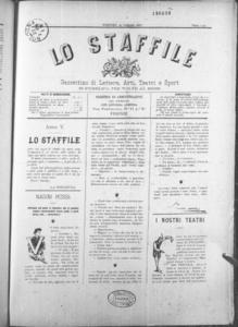 Lo Staffile : gazzettino di lettere, arte, teatri, societa' ecc. (1884:1-24)