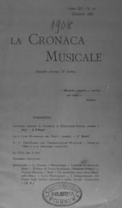 La cronaca musicale : piccola rivista di musica (1908:12)