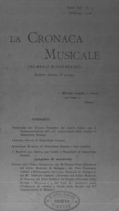 La cronaca musicale : piccola rivista di musica (1908:2)