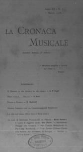 La cronaca musicale : piccola rivista di musica (1908:3)