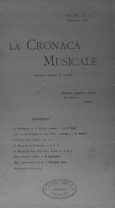 La cronaca musicale : piccola rivista di musica (1908:9)