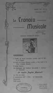 La cronaca musicale : piccola rivista di musica (1909:11)