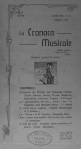 La cronaca musicale : piccola rivista di musica (1909:2)