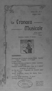 La cronaca musicale : piccola rivista di musica (1909:5)