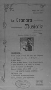 La cronaca musicale : piccola rivista di musica (1909:9)