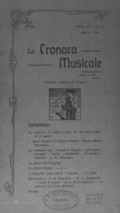 La cronaca musicale : piccola rivista di musica (1910:10)