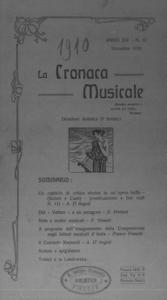 La cronaca musicale : piccola rivista di musica (1910:12)