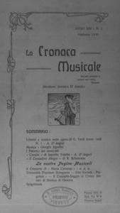 La cronaca musicale : piccola rivista di musica (1910:2)