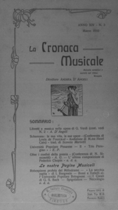 La cronaca musicale : piccola rivista di musica (1910:3)