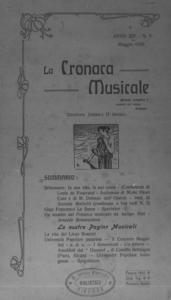 La cronaca musicale : piccola rivista di musica (1910:5)