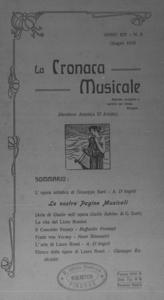 La cronaca musicale : piccola rivista di musica (1910:6)
