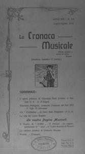 La cronaca musicale : piccola rivista di musica (1910:7-8)