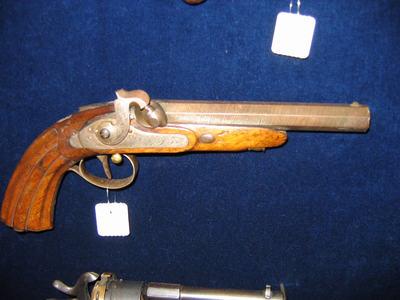 pistool, voorlader, percussie, loop uitwendig 6-kantig