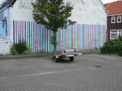 De muurschilderingen van Freek van Ginkel zijn op diverse locaties in de stad te zien. Ze bestaan m.n. uit geometrische figuren en lijnenstelsels. Dit werk is gemaakt in opdracht van de gemeente Nijmegen.
