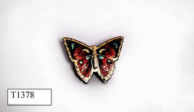 Rokklem in de vorm van een vlinder.