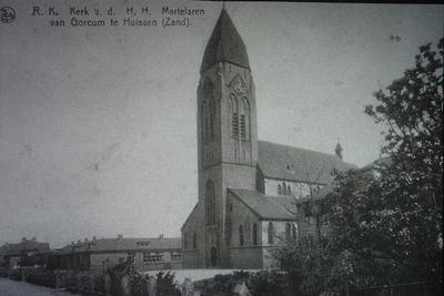 RK kerk en school van de parochie van de H.H Martelaren van Gorkum aan de Van Wijkstraat in Huissen Zand