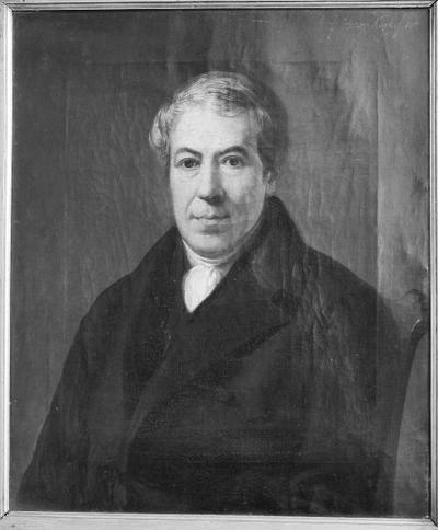 Schilderij met een portret van Willem Kuyk, vader van de schilder.