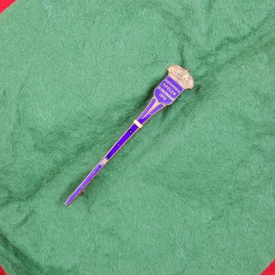 Een dasspeld van de Olympische Zomerspelen 1912 Stockholm. De dasspeld is eigendom geweest van Cees ten Cate die in het Nederlands voetbalelftal brons haalde tijdens de Olympische Spelen van 1912. De dasspeld heeft een vorm van een fakkel, bronskleurig met blauwe inlay met stippen met aam de top een goudkleurig kroontje. Aan de bovenzijde de inscriptie: OLYMPISKA, SPELEN, STOCKHOLM, 1912.