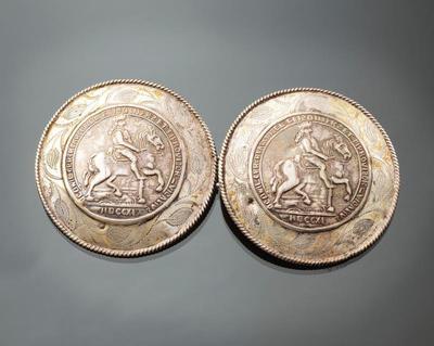 Paar zilveren broekstukken, Axel, 1902