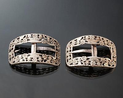 Paar zilveren schoengespen, Veluwe, 1894
