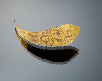 Vergulde messing voorhoofdsnaald, Walcheren, 1800-1880