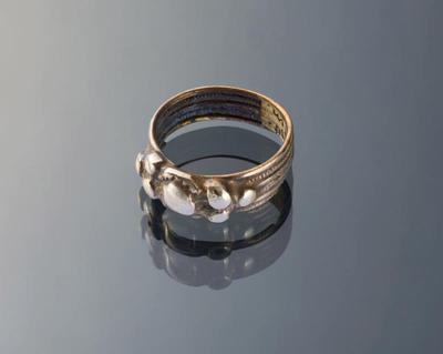 Zilveren ring, 'zevensteen', Marken