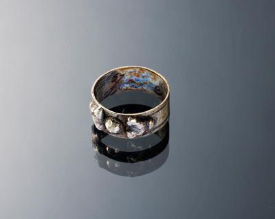 Zilveren ring, 'zevensteen', Marken, 1814-1906