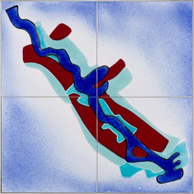 Sinds 1989 wordt langs de oevers van de Zaan het Zaanoeverproject uitgevoerd. Op 6 april 1992 is op de Beatrixbrug te Zaandam een eerste 'Zaanoeverproject-aandenken' onthuld: een vierdelig tegeltableau. Sindsdien worden tableaus geplaatst om duidelijk te maken waar gebouwen zijn gemaakt of opgeknapt in het kader van het Zaanoeverproject. Er werden door de keramist 80 exemplaren aangeleverd, in twee partijen; Ieder tableau is met de hand ingekleurd. Er kunnen dus verschillen zijn. Het Zaanoeverprogramma is met ingang van 2010 gestopt als programma.