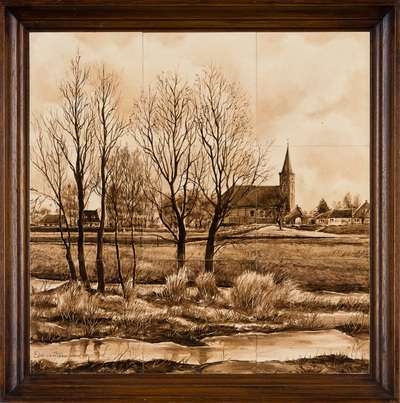 Cees van Leeuwen (1940) is zelfstandig plateelschilder sinds 1970. Hij werd op jonge leeftijd opgeleid tot schilder bij Zenith te Gouda en volgde een opleiding bij de Tekenacademie in Den Haag.