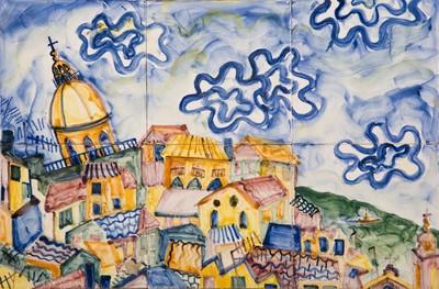 Josephine King (1967) heeft na haar studie schilderen en grafiek aan de Rietveld Academie in Amsterdam drie jaar in Lissabon gewerkt. Zij was daar uitgenodigd als 'artist in residence' door het Museu Nacional do Azulejo. In 1998 was al haar werk uit deze jaren hier te zien op de tentoonstelling 'Portugees dagboek. Indrukken op tegeltableaus'