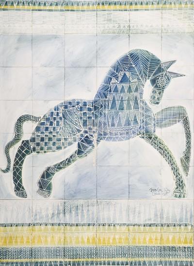 Josephine King (1967) heeft na haar studie schilderen en grafiek aan de Rietveld Academie in Amsterdam drie jaar in Lissabon gewerkt. Zij was daar uitgenodigd als 'artist in residence' door het Museu Nacional do Azulejo. In 1998 was al haar werk uit deze jaren in het Nederlands Tegelmuseum te zien op de tentoonstelling 'Portugees dagboek. Indrukken op tegeltableaus'.