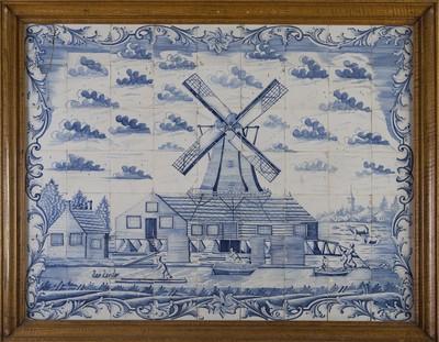 In 1807 is in het dorp Langweer een houtzaagmolen gebouwd met twee bijbehorende woningen voor de molenaar en een knecht. Dit tableau is als schoorsteenstuk afkomstig uit een van deze huisjes.