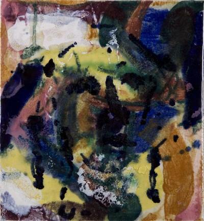J.J. (Koos) van der Sluijs (1920-2005), was in de jaren 1946-1961 ontwerper bij de Faïence- en tegelfabriek Westraven in Utrecht. Daarna werkte hij als zelfstandig kunstenaar, vooral als graficus, en had hij een eigen atelier in Utrecht. Deze tegel is als vrij werk gemaakt.