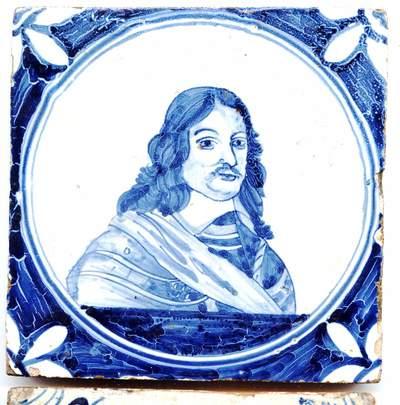 Er is een aantal van deze tegels met portretten van prinsen en prinsessen uit 't Wyt Beroemd Geslacht van zyn Doorl: Hooght Wilhelmus de I Prince van Oranje etc.' bekend. Een prent met 15 portretten in ovalen is omstreeks 1653 verschenen bij de als uitgever van kaarten bekende Frederik de Wit in Amsterdam. In het ovaal op deze tegel ziet men het portret van Enno Ludwig, vorst van Ostfriesland van 1648-1660.