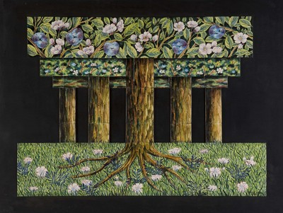 Marie-France Kok-Adam (1944-2003), geboren in Frans Guinea, is begonnen als botanisch tekenaar bij het Natuurhistorisch museum in Parijs. Met de Nederlandse schilder en graficus Bessel Kok kwam zij naar Amsterdam en werd hier gefascineerd door de mogelijkheden van de tegel. Zij werkte met industrieel geperste tegels, maar paste de vorm aan naar haar behoefte. In 1982 had zij in het Nederlands Tegelmuseum een expositie van haar tegeltableaus.