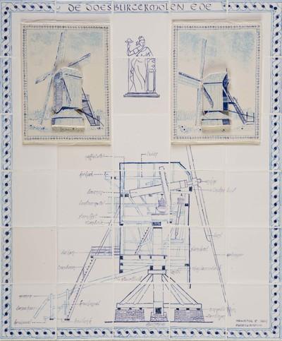 Ter gelegenheid van het 'Jaar van de Molen' in 2007 maakten de kunstenares Marieke Bouman (Lunteren) en de keramist Leendert van der Plas (Ede) een tableau van de Doesburger molen, de oudste nog bestaande windmolen in Nederland. Het tableau toont zowel de molen, van verschillende kanten gezien, als een constructietekening.