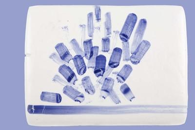 De Amsterdamse beeldende kunstenaar Helly Oestreicher exposeerde in 2006 in het Nederlands Tegelmuseum een reeks bijzondere porseleinen tegels onder de titel 'Amsterdams blauw'. Het idee hiervoor ontwikkelde zij in 2003 tijdens een werkperiode in het EKWC (Europees Keramische WerkCentrum). Door de samenstelling van de porseleinmassa zijn de tegels in de oven gaan 'rijzen' als broodjes. De vormen worden onregelmatig en hebben de inwendige structuur van een reep 'bros'.