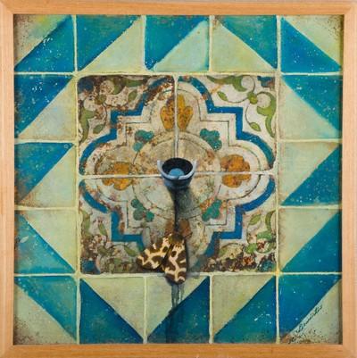 De schilder Bededictus Mirande had in 1992 in het Nederlands Tegelmuseum de expositie 'De fascinerende wereld van verweerde tegelmuren', Hier werden ruim 20 werken getoond die geïnspireerd zijn op antieke tegels.