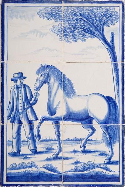 Tableaus met deze voorstelling zijn in de 19de en vroege 20e eeuw zowel in Utrecht als Harlingen in grote aantallen gemaakt. Als pendant hoort hierbij de voorstelling van de boerin met koe. Deze voorstellingen werden vaak in de achterwand van de haard gezet.