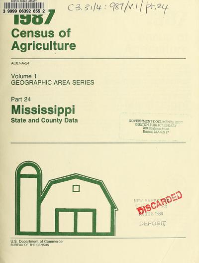 Census of agriculture (1987).