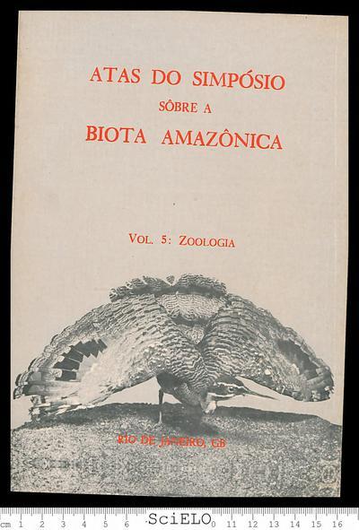 Atas do simpósio sobre a biota amazônica Belém, Pará, Brasil, Junho 6-11, 1966