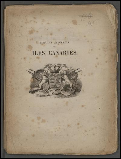 Histoire naturelle des Iles Canaries